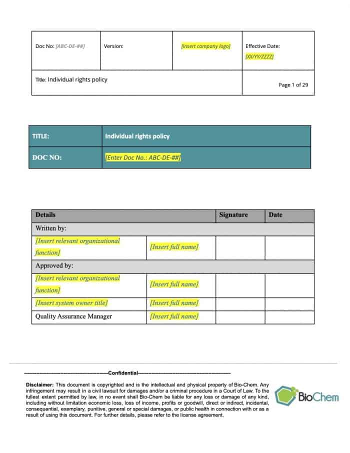 Individual rights_BioChem_ISMS template preview 1